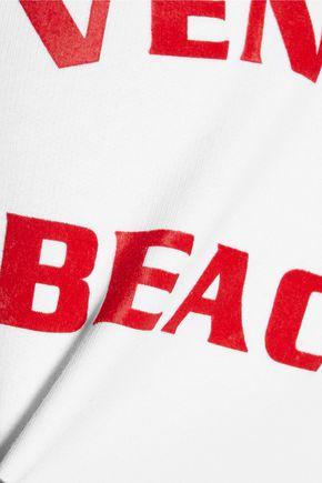 ÊTRE CÉCILE Venice Beach Baby flocked cotton-fleece sweatshirt