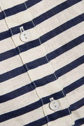 RAG & BONE Leeds striped linen blouse