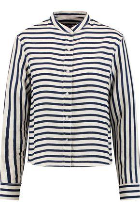 RAG & BONE Leeds striped linen blouse