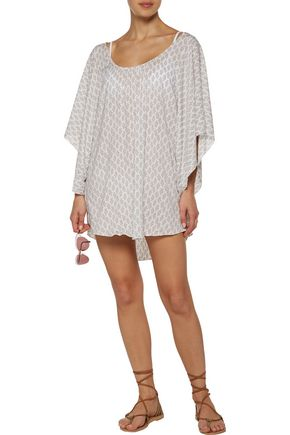 EBERJEY By The Sea Clara printed voile coverup