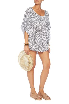 EBERJEY Clara printed voile coverup