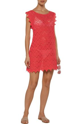 EBERJEY Souq Spice Amina crocheted cotton coverup