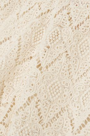 EBERJEY Dylan tasseled crocheted cotton shorts