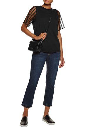 CLU Tulle-paneled cotton T-shirt