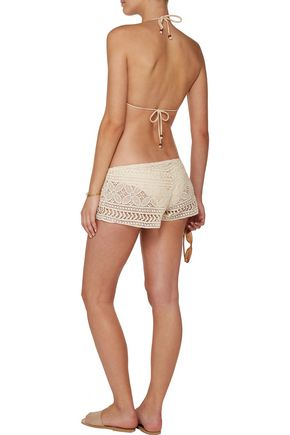 EBERJEY Sam crocheted cotton shorts