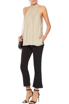 HAUTE HIPPIE The Morrison lace-up silk tank