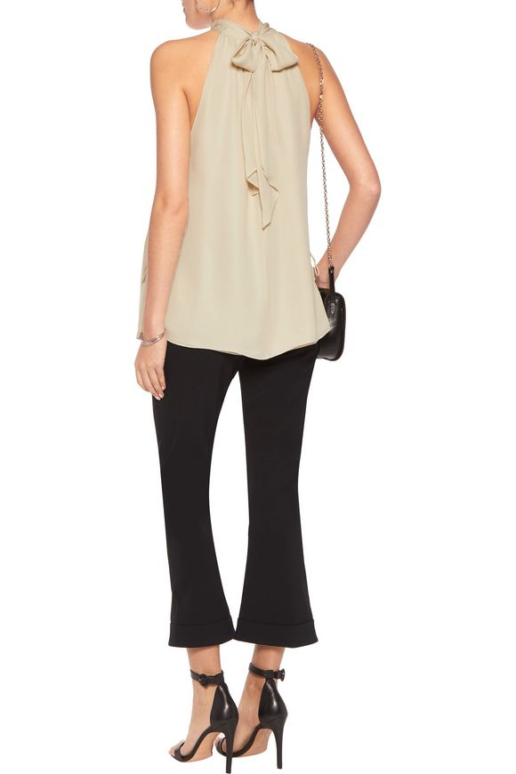 The Morrison lace-up silk tank | HAUTE HIPPIE | Sale up to 70% off | THE  OUTNET