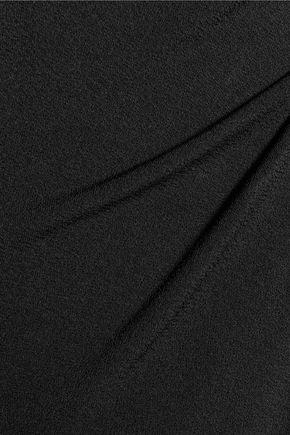 HAUTE HIPPIE Lace-up stretch-crepe bodysuit