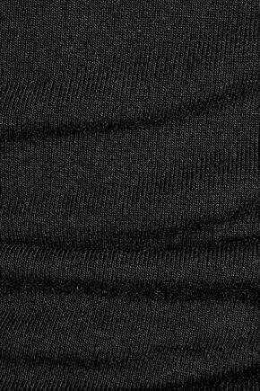 HAUTE HIPPIE Layered modal-blend jersey top