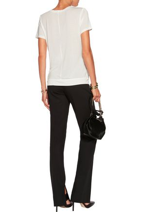 HALSTON HERITAGE Fringed modal top