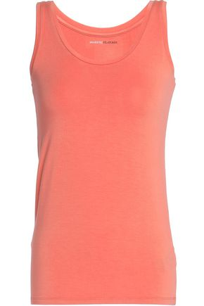 MAJESTIC Washed stretch-jersey tank