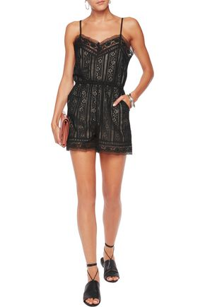 GOEN.J Lace playsuit
