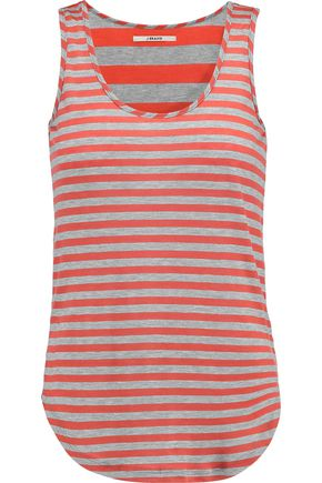 J BRAND Bell striped stretch-jersey tank