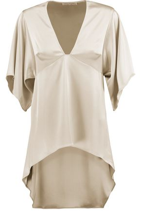 HALSTON HERITAGE Asymmetric satin top
