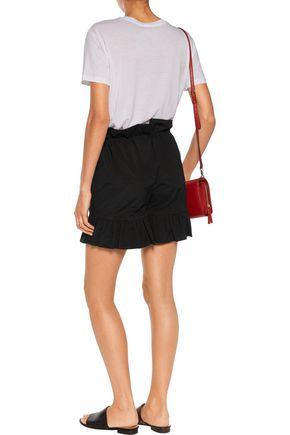 GOEN.J Ruffle-trimmed cotton-blend poplin shorts