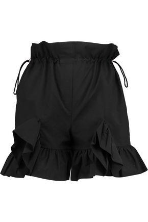 GOEN.J Ruffle-trimmed cotton-blend shorts