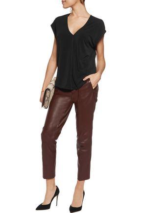 BY MALENE BIRGER Jacquett stretch-crepe top