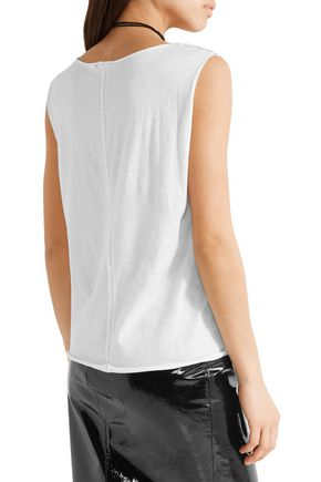R13 Nothing Sacred printed cotton and cashmere-blend jersey tank