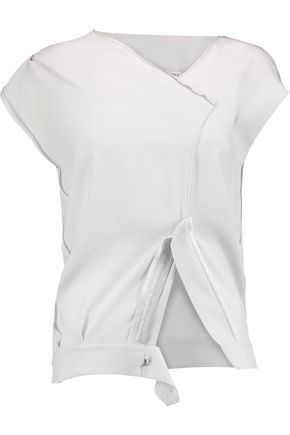 MAISON MARGIELA Zipped crepe top