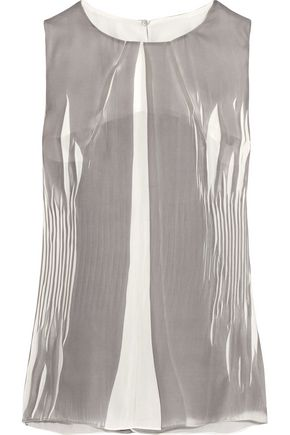 MAISON MARGIELA Crinkled-chiffon top