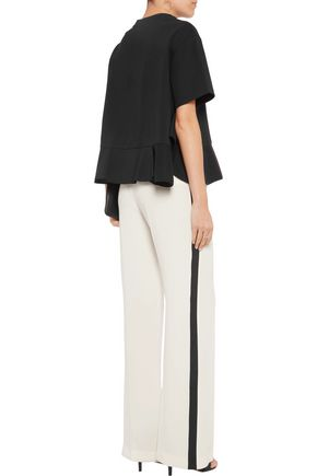 GOEN.J Open-knit cotton sequinned top