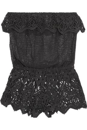 EBERJEY Sun Warrior Nina guipure lace shorts