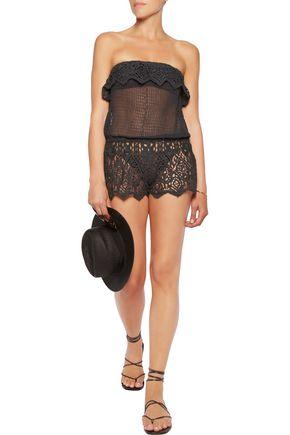 EBERJEY Sun Warrior Nina guipure lace shorts