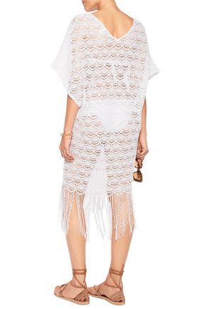 EBERJEY Bohemian Bride Freya fringed guipure lace coverup