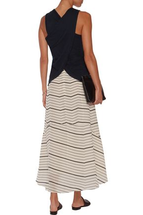 JAMES PERSE Wrap-effect cotton-jersey tank