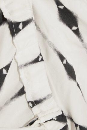 EBERJEY Oren printed twill shorts