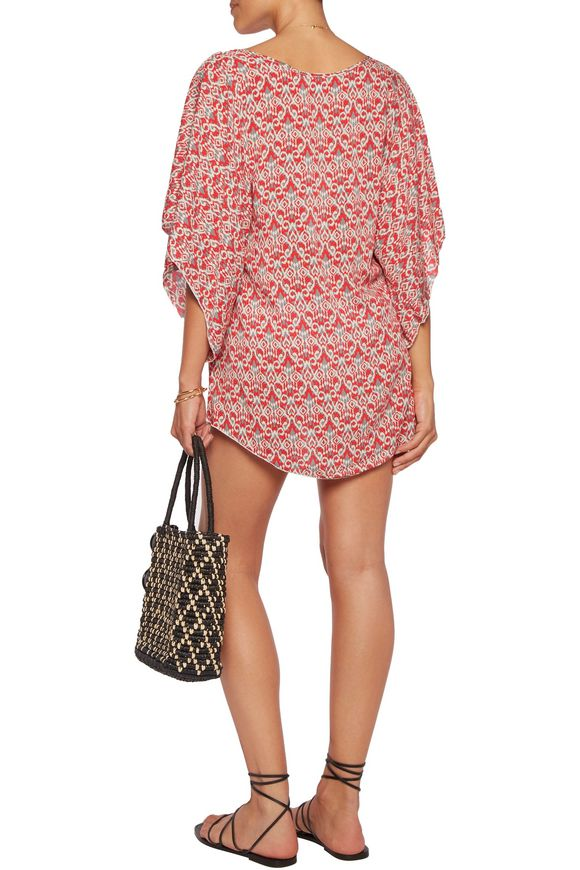 Wild Tribe Clara printed twill coverup | EBERJEY | Sale up to 70% off | THE  OUTNET