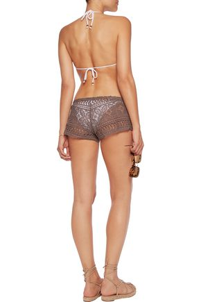 EBERJEY Beach Comber macramé lace shorts