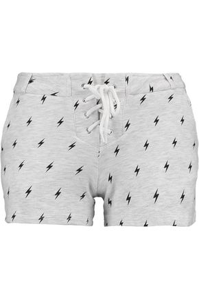 MONROW Printed jersey shorts