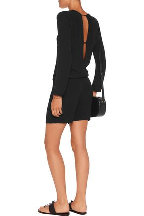 MONROW Cutout crepe playsuit