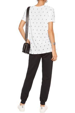 MONROW Printed linen T-shirt
