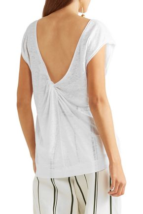 BY MALENE BIRGER Analisa knotted slub linen-jersey T-shirt