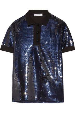 CARVEN Sequinned cotton top