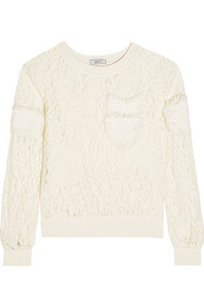 GOEN.J Appliquéd embroidered lace top