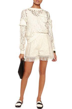 GOEN.J Appliquéd embroidered lace top
