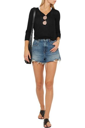 SPLENDID Drapey Lux stretch-jersey top