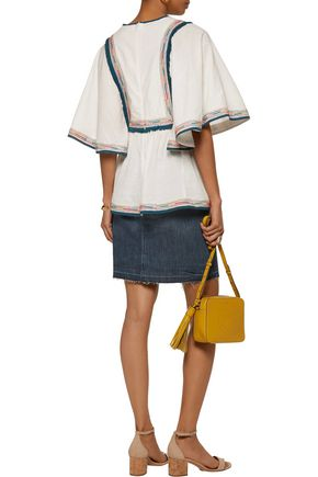 TALITHA Kutch Angel tasseled embroidered cotton top