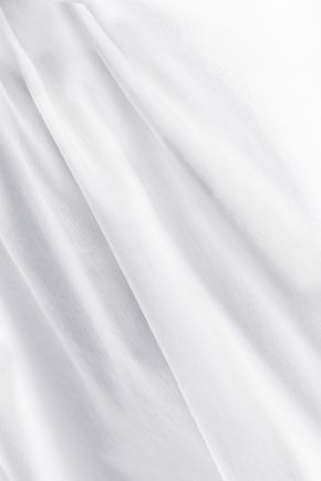 RAOUL Primrose off-the-shoulder bow-detailed cotton-blend top