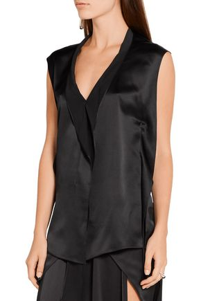 NARCISO RODRIGUEZ Silk-satin top