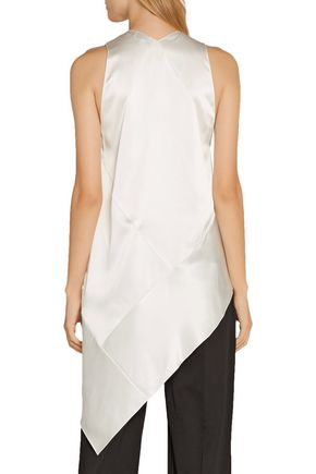 NARCISO RODRIGUEZ Asymmetric silk-satin top