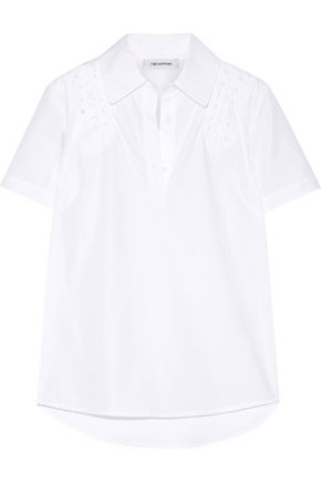 TIM COPPENS Embellished cotton-poplin shirt