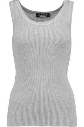 MAGASCHONI Ribbed silk and cashmere-blend tank