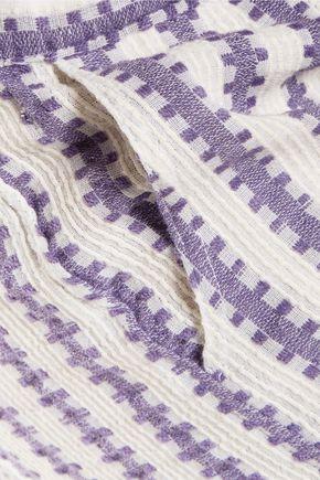 MASTER&MUSE x LEMLEM Elsabet striped cotton blend-gauze shorts
