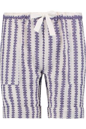 MASTER&MUSE x LEMLEM Elsabet striped cotton blend-gauze shorts