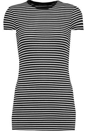 ATM Striped stretch-Micro Modal T-shirt