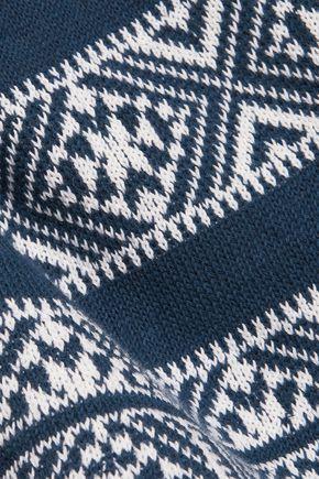 VELVET by GRAHAM & SPENCER Fringed cotton and linen-blend top